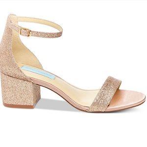 Betsey Johnson Miri Gold Glitter Heel Sz 7.5